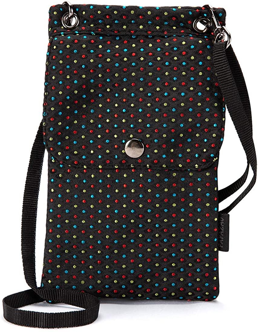 PAPAZAU Crossbody Phone Bag Purse RFID Blocking Passport Travel Neck Wallet for Women