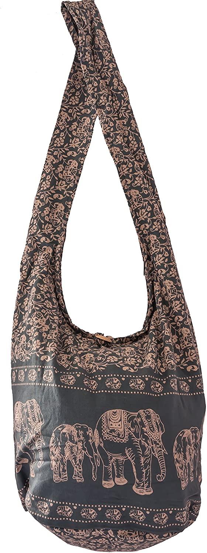 SLING Bag COTTON 40 PRINTs Men or Women CROSSBODY bag LARGE BOHO hippie hobo handbag