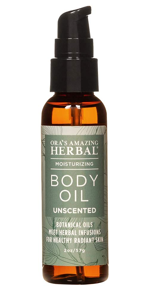 Unscented Body Oil, Fragrance Free Body Oil, Massage Oil, Paraben Free, Ora's Amazing Herbal