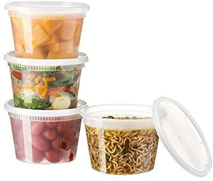 Basix 96 Piece Deli Food Storage Container with Lids, 16 oz.