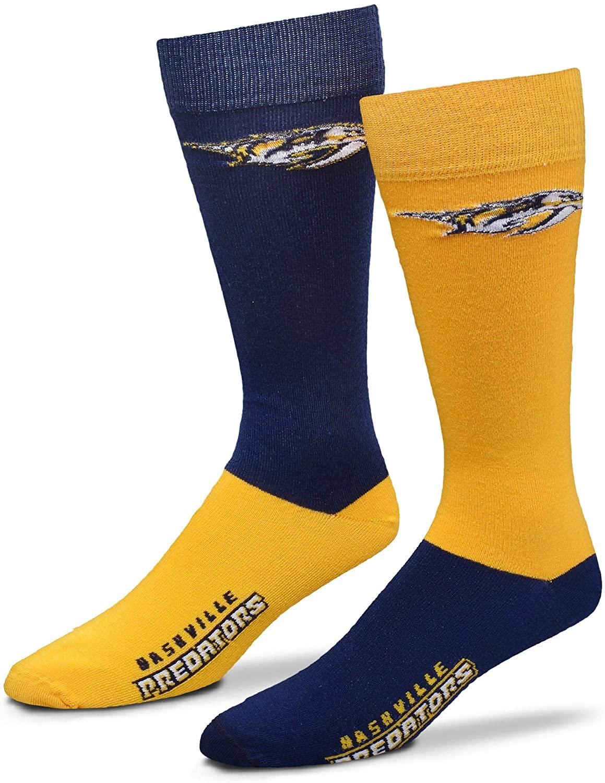 For Bare Feet Men's NHL 4-Square Mismatch Dress Socks