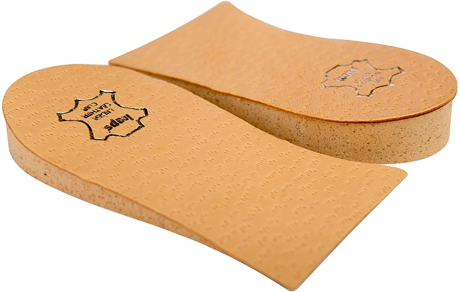 Heel Lift Elevator, Heel Raise, Heel Pad, Orthotic Wedge, Shoe Pad, Many Widths and Heights, Leather Cover, Kaps Topmed, 2 Pieces Left and Right (Height 10 mm / 0.4 inch - Size S)