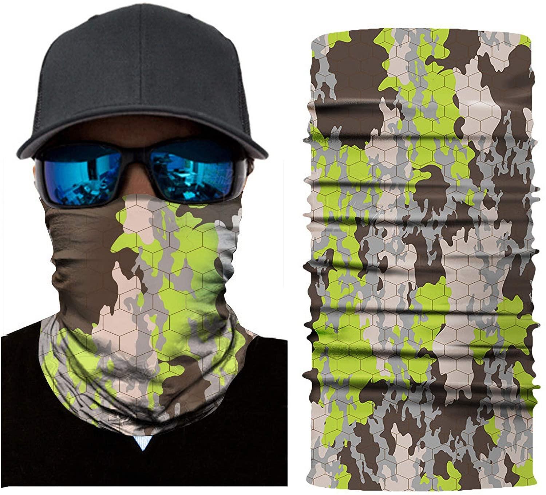 Skull Face Mask Bandanas Balaclava Magic Scarf Neck Gaiter Headband for dust UV Sun Wind Protection
