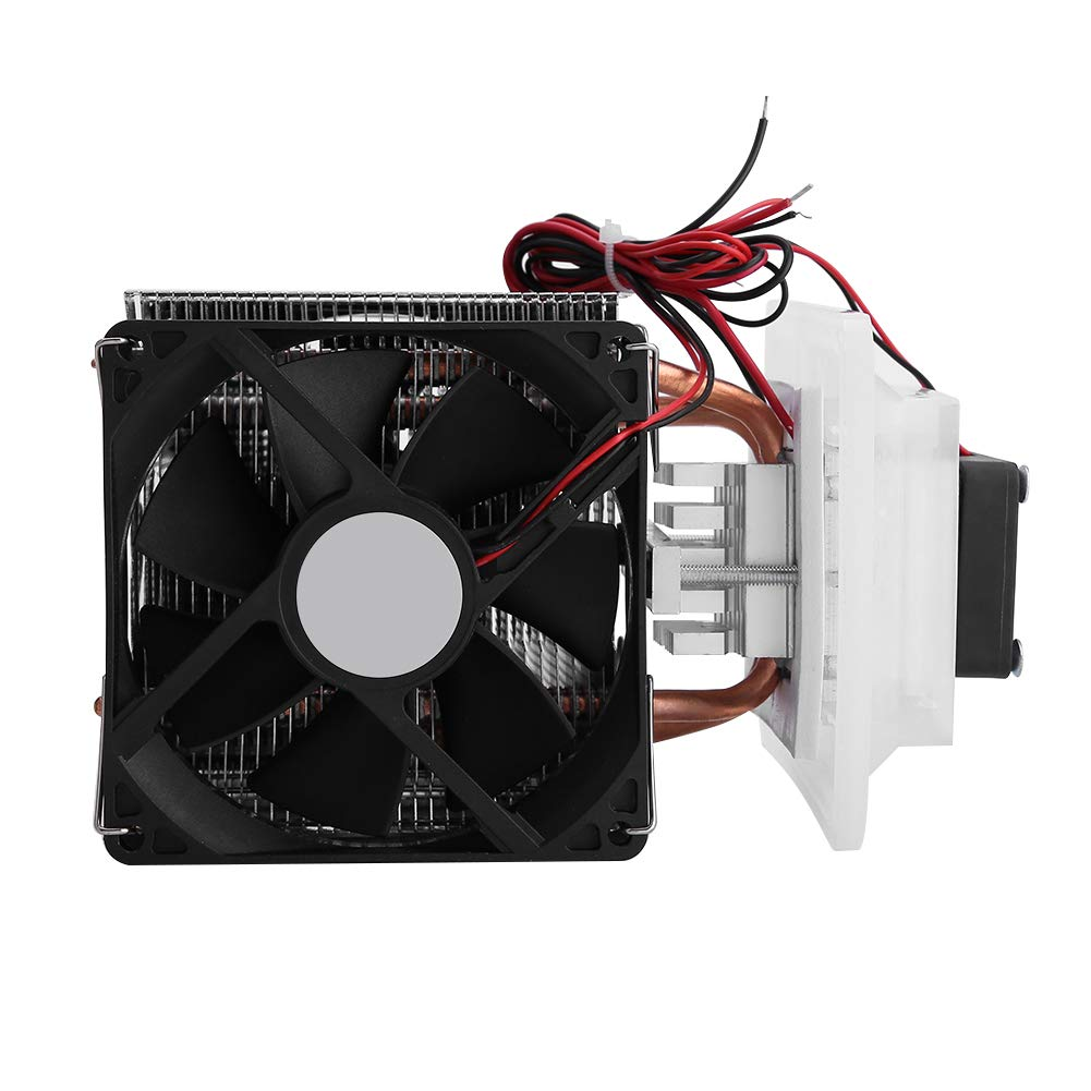 12V Semiconductor Refrigeration Cooler Thermoelectric Peltier Cooling System Heat Sink Conduction Module DIY Kit with Fan for Air Cooling Dehumidification System, Semiconductor Refrigeration Learning