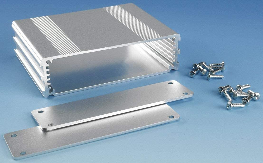 B2-080SI: Silver Anodized, Extruded Aluminum Electronic Enclosure Project Box Electronic DIY Case, size 3.15