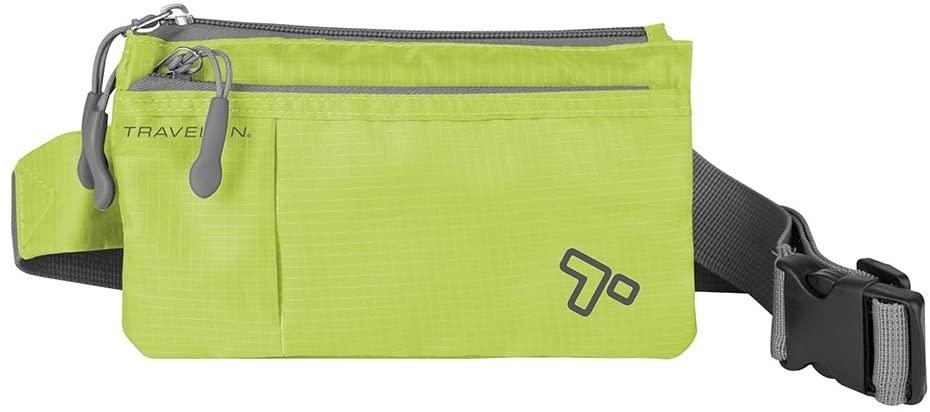 Travelon 6 Pocket Waist-Pack, Lime, One Size