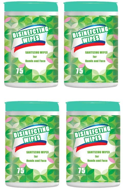 75Piece Wipes Sheets Portable Home Office 40ml Cleaing Papers Napkins Indoors Outdoors Paper Towels 2/4/6packs Napkin Total 450 pieces wipe (4packs)