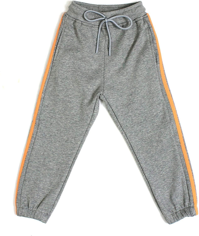 Bienzoe Girl's Cotton Fleece Thermal Pull-On Jogging Pants