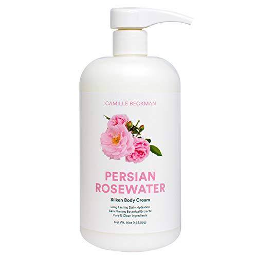 Camille Beckman Silken Body Cream, Persian Rosewater, 16 Ounce