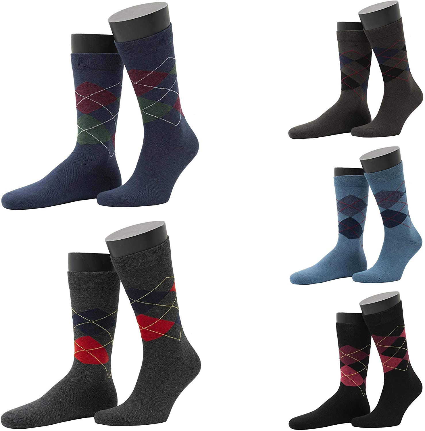 European Made OEKOTEX Certified 5 Pack Assorted Premium Cotton Casual Designer Socks For Men