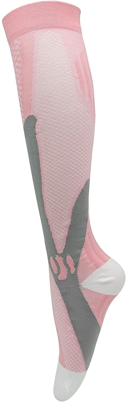 Unisex (20-30 mmHg) Graduated Compression Socks Knee High Stockings (Pink, S/M)