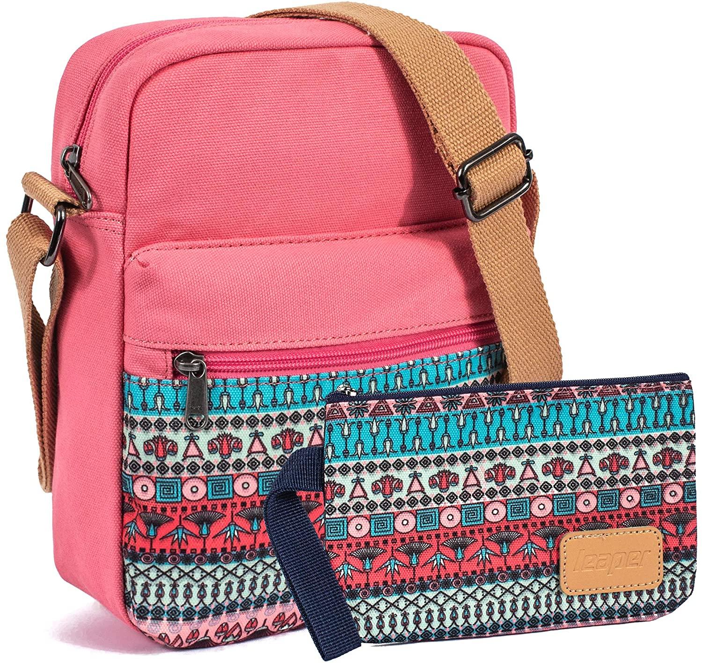 VOLINER Crossbody Bag Purses Over Shoulder Messenger Bag Pencil Pouch Coral