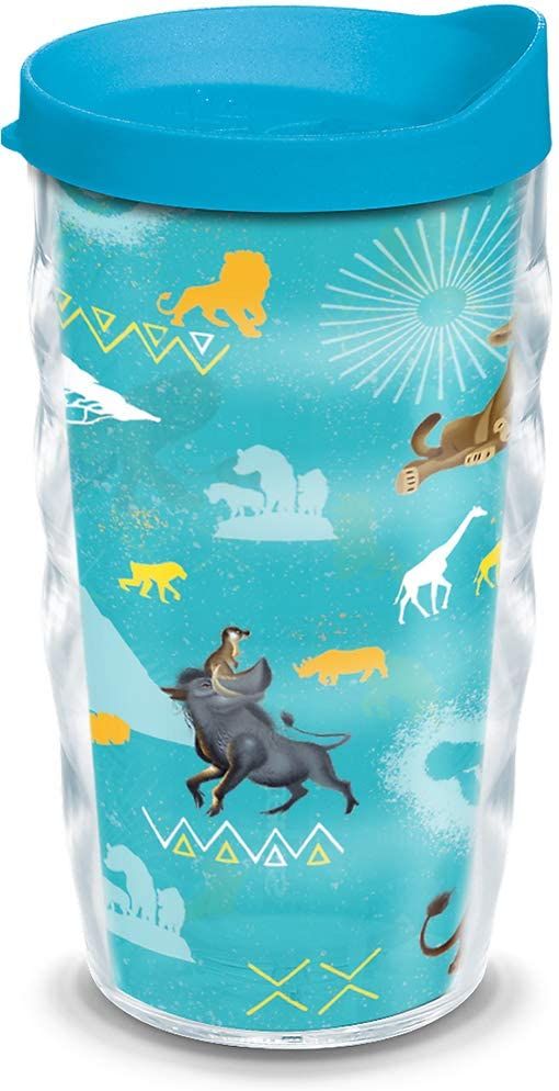 Tervis Disney - Lion King Mighty Insulated Tumbler with Wrap and Lid, 10 oz, Clear