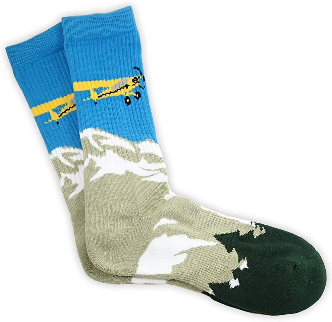 Bush Pilot Socks, Aviation-Themed Premium Crew Socks 1-Pair