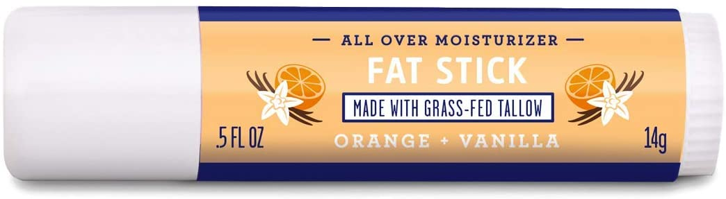 FATCO Fat Stick and All Purpose Moisturizing Stick for Dry Areas on Your Face, Lips, and Body – Orange + Vanilla (0.5 oz)
