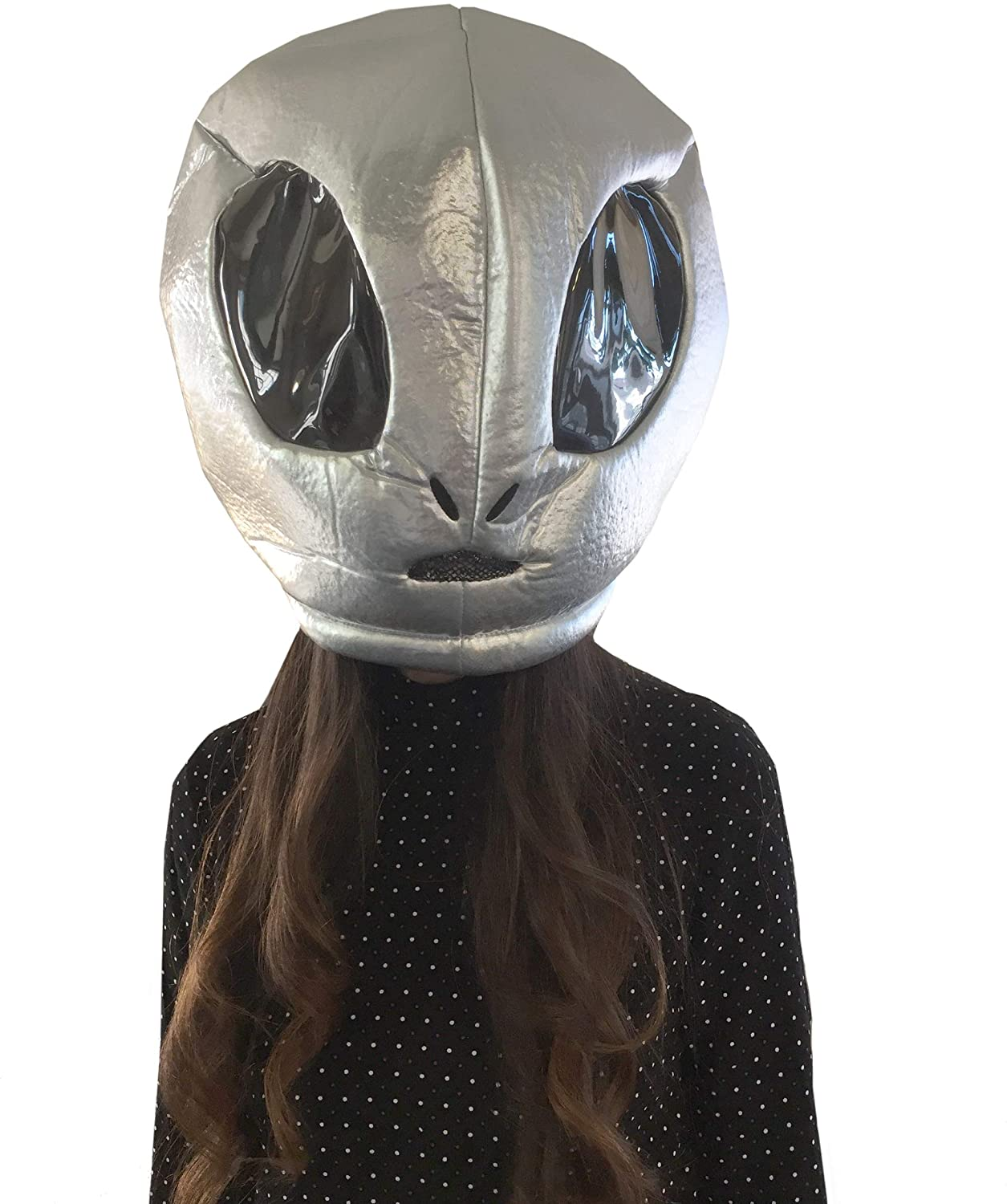 CLEVER IDIOTS INC Animal Head Mask - Plush Costume for Halloween Parties & Cosplay (Alien)