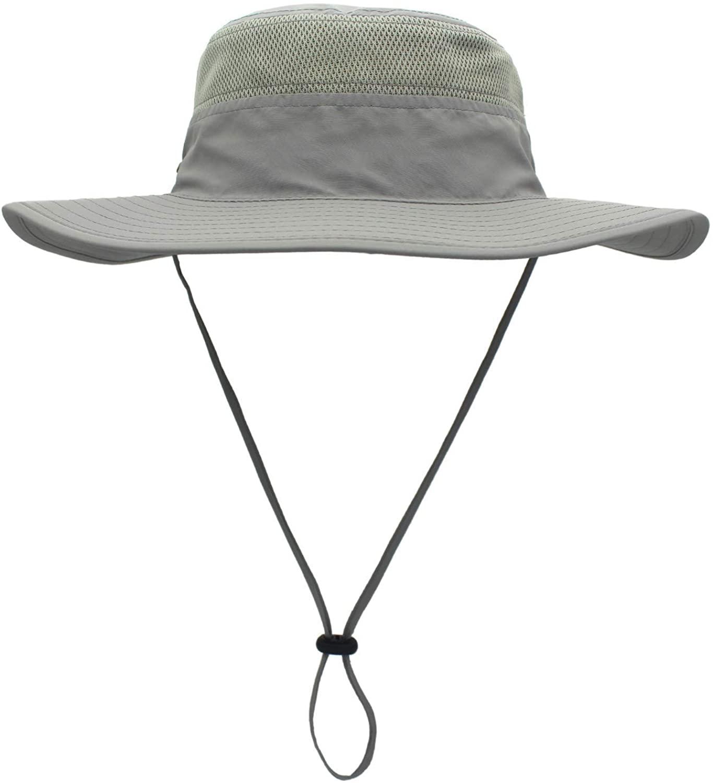 Dukars Unisex Wide Brim Sun Hat,Outdoor UPF 50+ Waterproof Boonie Hat Summer UV Protection Sun Caps