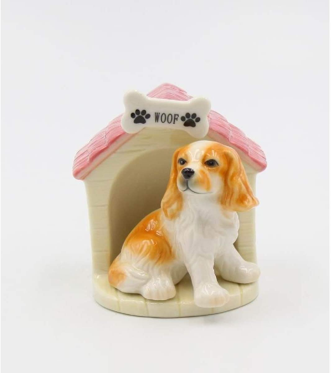 Cosmos Gifts 20783 Cock Spaniel wih Doghouse Salt and Pepper Shaker, One Size, Brown