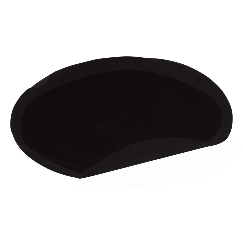 EBLSE Beauty Salon Mat PU Half Round Anti-fatigue Mat Salon Pad Black, Practical Comfortable Salon Mats Which Suitable for Most Size of Salon Chair (3′x2′x1/2