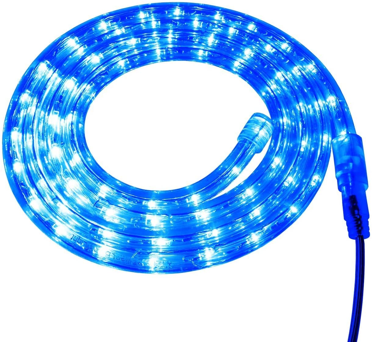 Brilliant Brand Lighting Blue LED Rope Light - 120 Volt - Custom Cut - 13.12 Feet