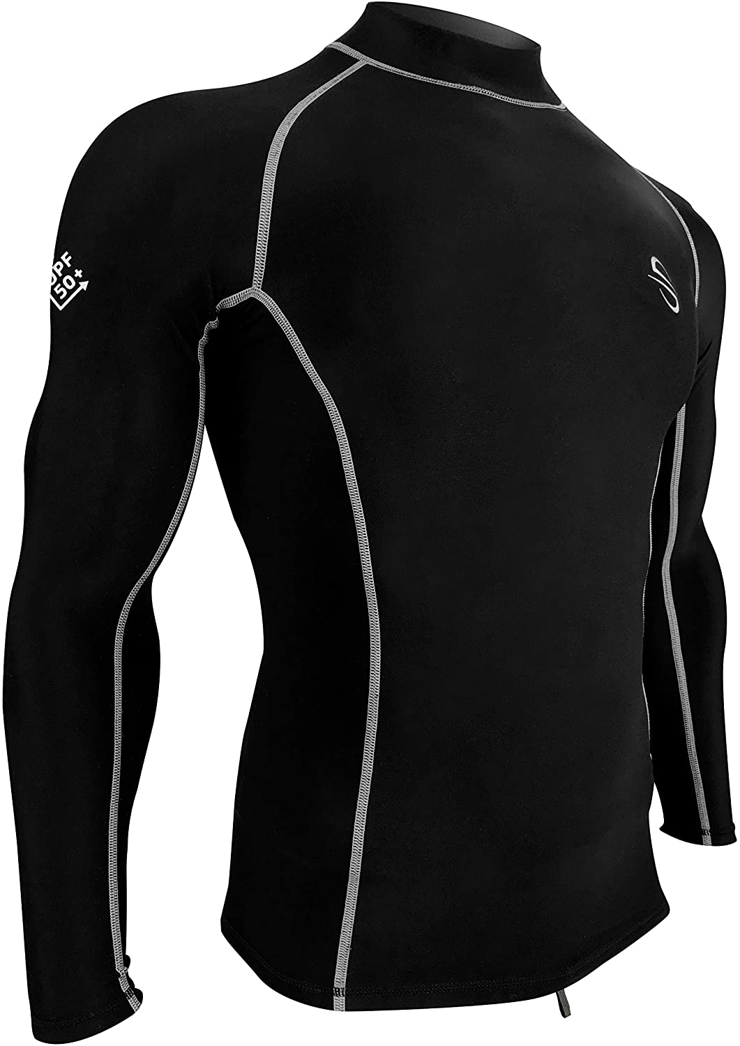 Platinum Sun Unisex Fleece Rash Guard Swim UV Shirt Swimsuit Long Sleeve - UV Protection Water Shirts for Men Women UPF 50+