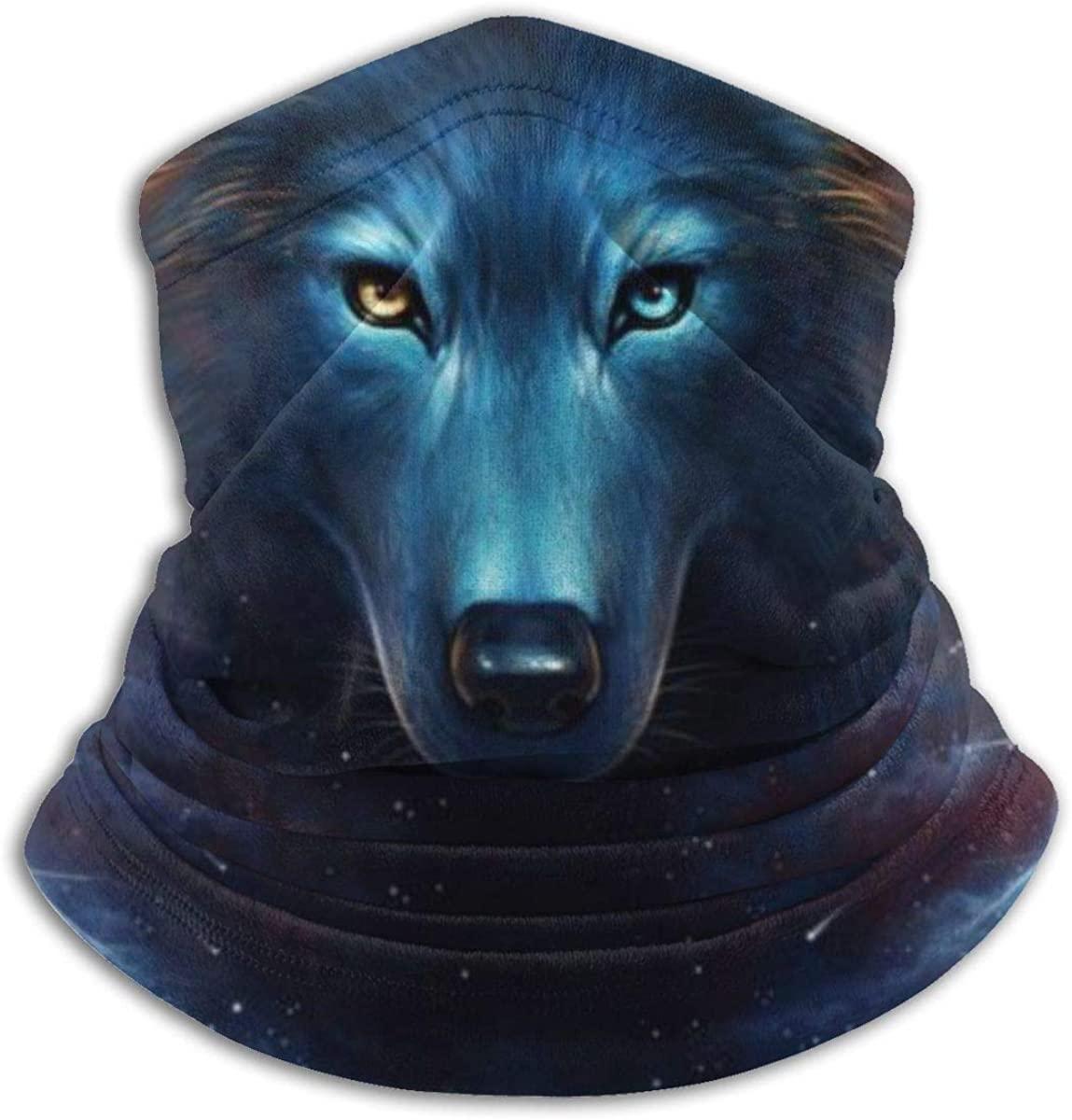 Seamless Bandana Dream Catcher Wolf Face Mask Women Men for Dust Wind Sun Protection Black