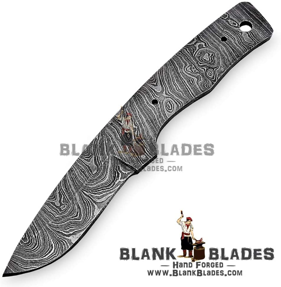 Hand Forged Damascus Steel Blank Blade 7.00