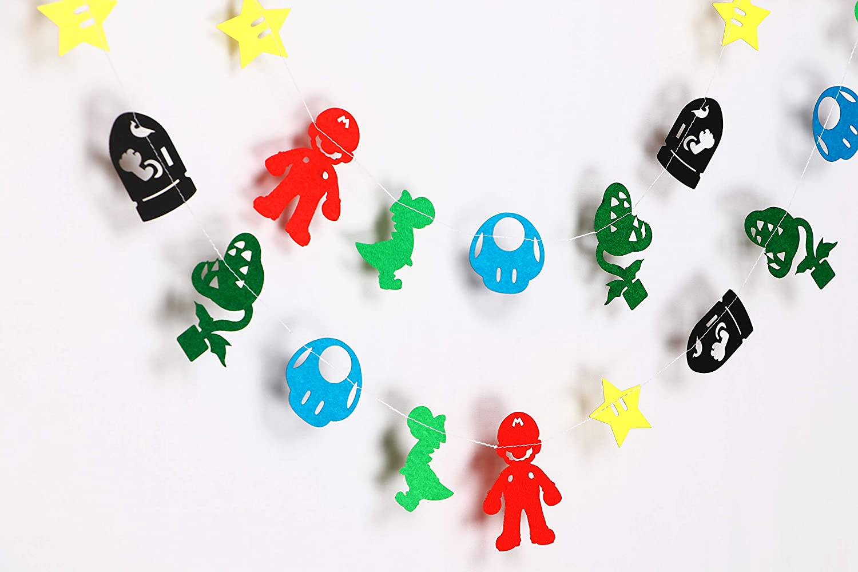 Seyal Mario Game Garland - Birthday Decorations,Party Decorations,Party décor,Creative Decoration