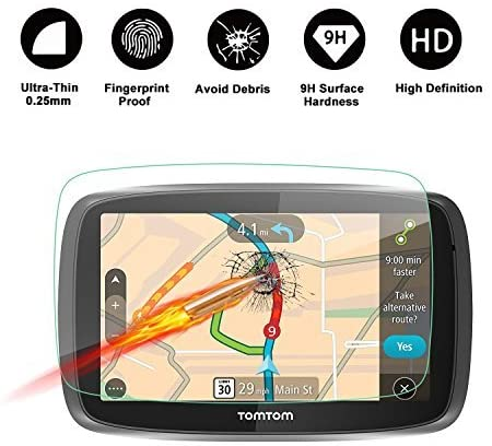 Tomtom GO 500 510 GPS 5-Inch Display Navigation Screen Protector, R RUIYA HD Clear Tempered Glass Screen Guard Shield Scratch-Resistant Ultra HD Extreme Clarity