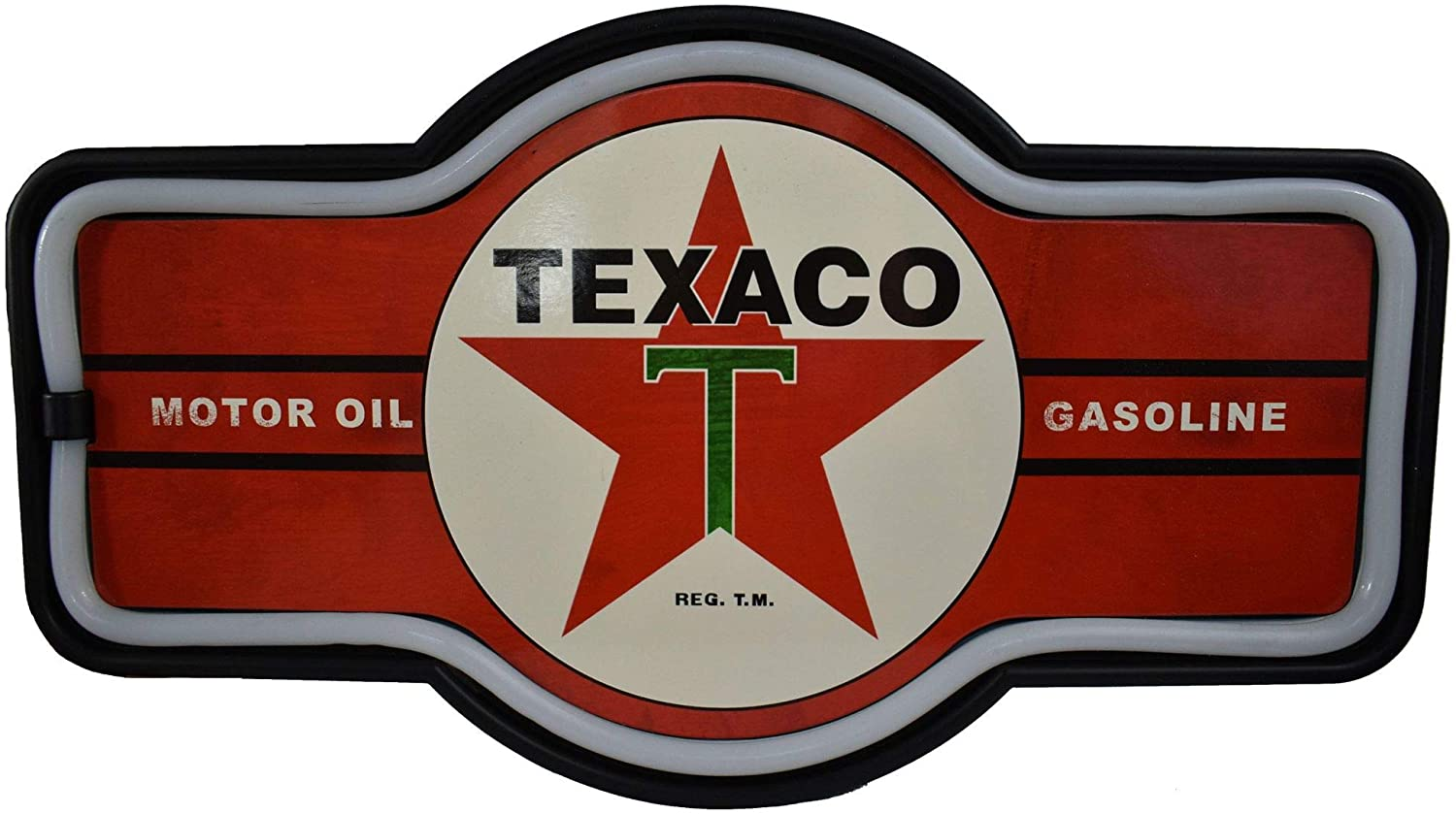 Like Neo Sign Decor Lighting Sign LED Rope Bar Sign Texaco Chevron express H24 Texaco X 3 X W44 cm Wall object American goods American goods
