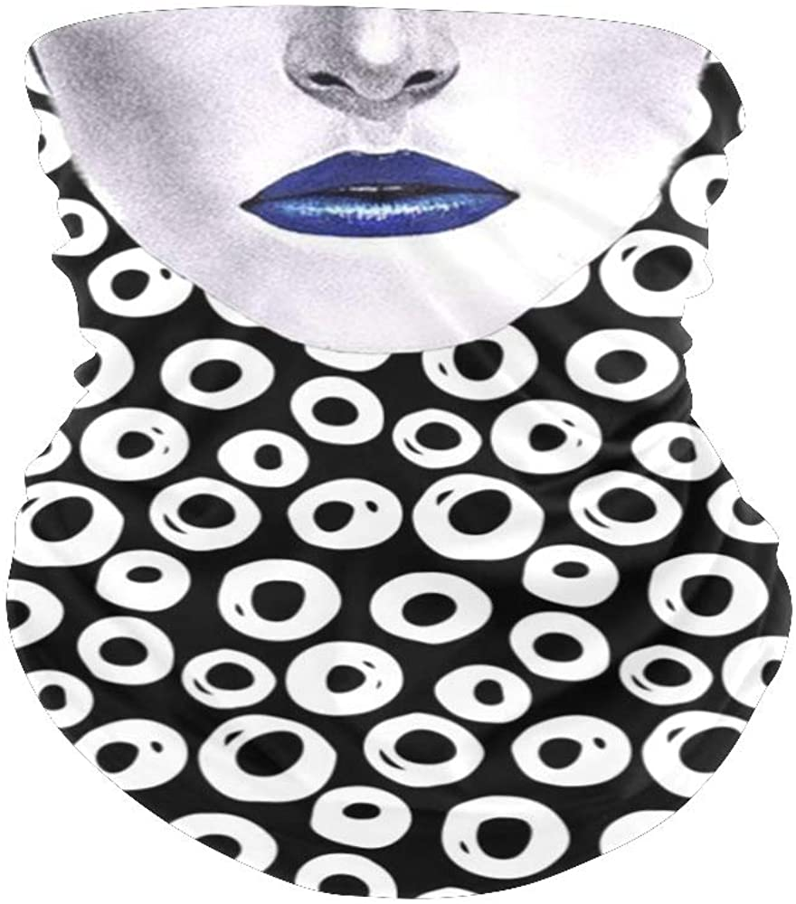 XOZOTY Balaclava Bandanas Face Mask Cover Abstract Polka Dot Neck Gaiter for Out Doors, Dust, UV Protection
