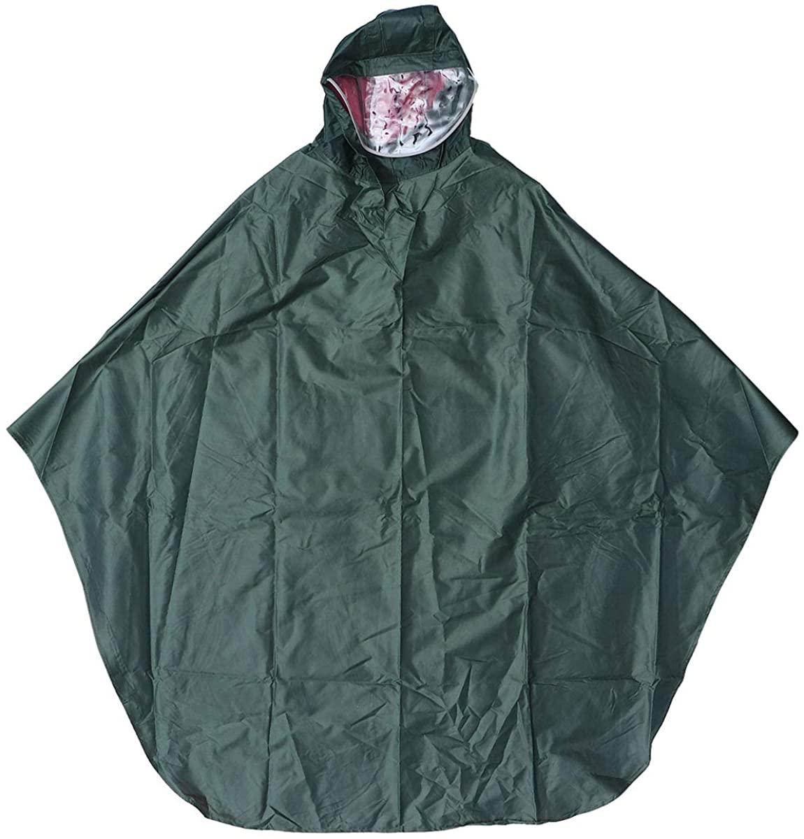 VORCOOL Waterproof Rain Poncho Lightweight Reusable Hiking Rain Coat Jacket with Hood for Boys Men Women Adults