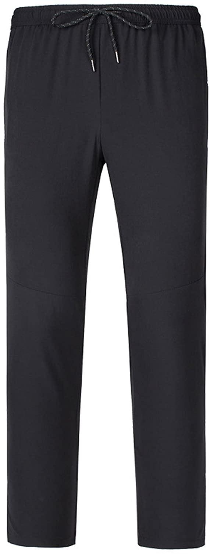 LANBAOSI Boys Elastic Waist Hiking Pants Zipper Pockets Quick Dry Lightweight Trousers