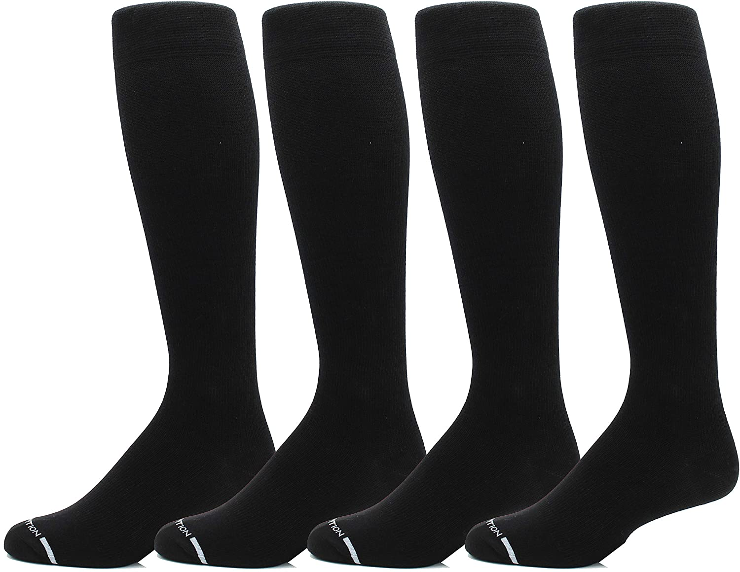 4 Pairs Men's Dr. Motion 8-15 Mmhg Graduated Support Compression Knee High Socks …