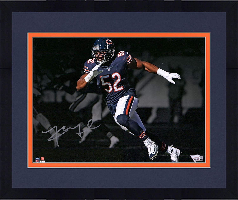 Framed Khalil Mack Chicago Bears Autographed 11 x 14 Pass Rush Spotlight Photograph - Autographed NFL Photos