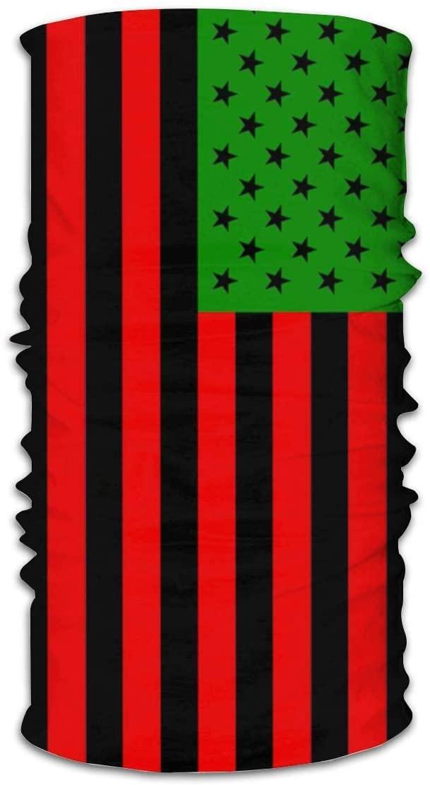 antoipyns African America Thin Flag Neck Gaiter Face Mask Sports Bandana Balaclava Headwear Scarf Headband for
