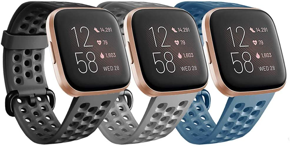 Bands Compatible with Fitbit Versa Lite / Versa / Versa 2 Women Men Replacement Wristbands Strap Band for Versa Smart Watch