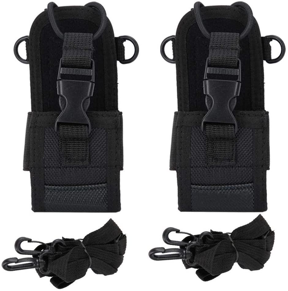 Socobeta 2 Pcs Walkie-Talkie Case Universal Nylon Two Way Radio Protective Cover with Adjustable Wide Shoulder Strap