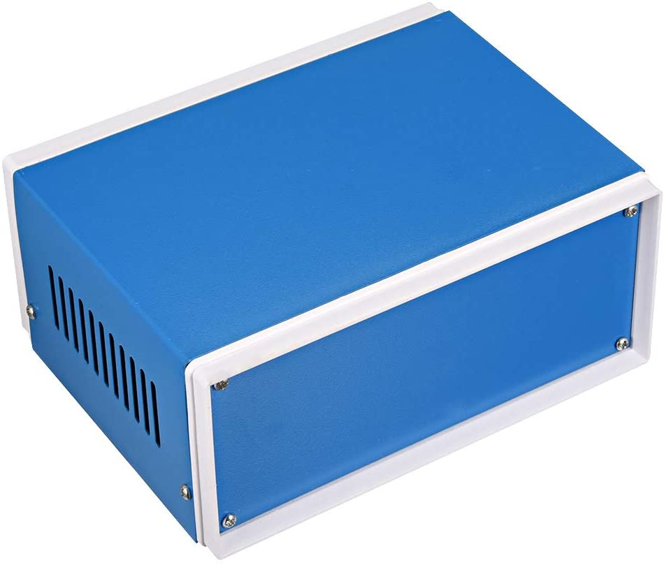 uxcell Metal Blue Project Junction Box Enclosure Case 170 x 130 x 80mm/6.69 x 5.12 x 3.15inch