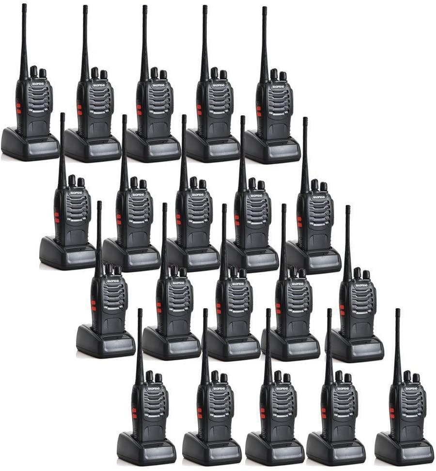 Baofeng BF-888S 5W 1500mAh 16 Channel Handheld Walkie Talkie Black