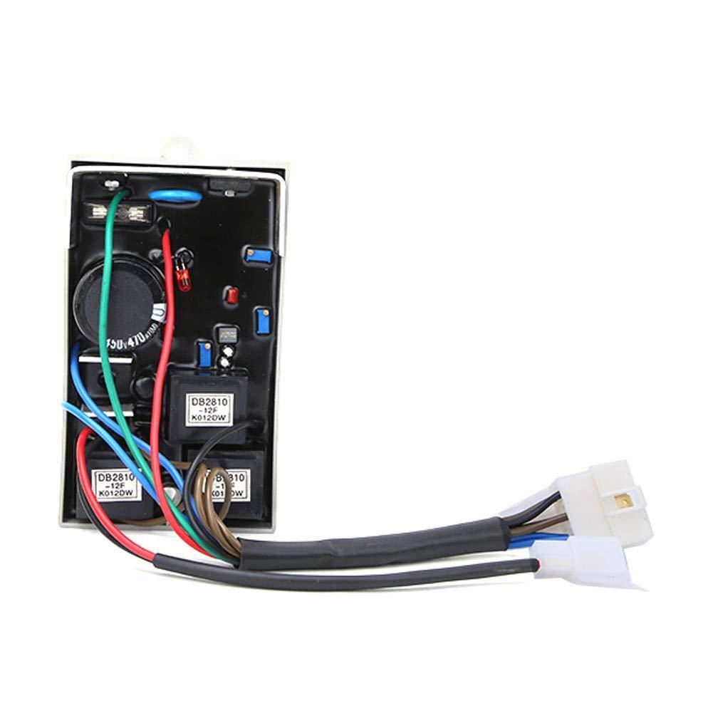 Generator Voltage Regulator,3-Phase Voltage Regulator Generator Parts Set Accessories AVR KI-DAVR 95S3 for 8.5/9.5kW Three Phase Generator Controller