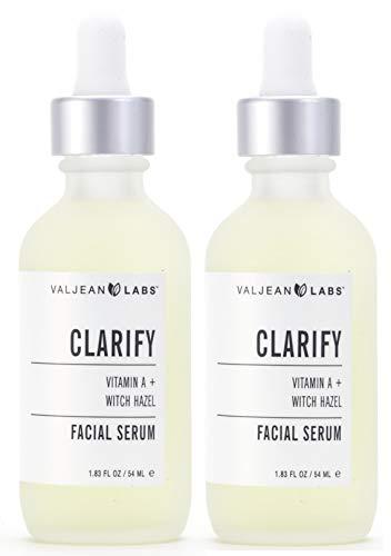 Valjean Labs Facial Serum, Clarify (Vitamin A + Witch Hazel) (2 Pack)