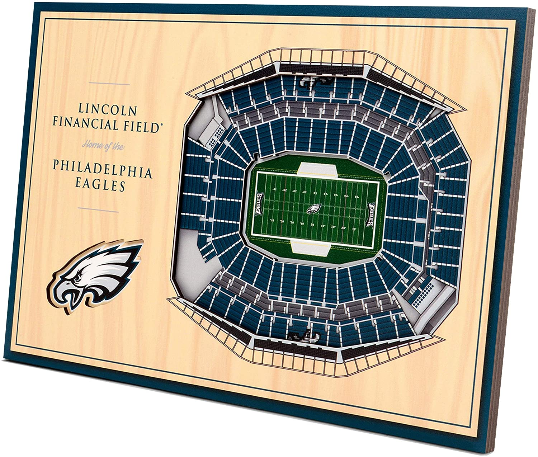 YouTheFan NFL Philadelphia Eagles Unisex Philadelphia EaglesDesktop Stadium View, Wood Grain, Desktop