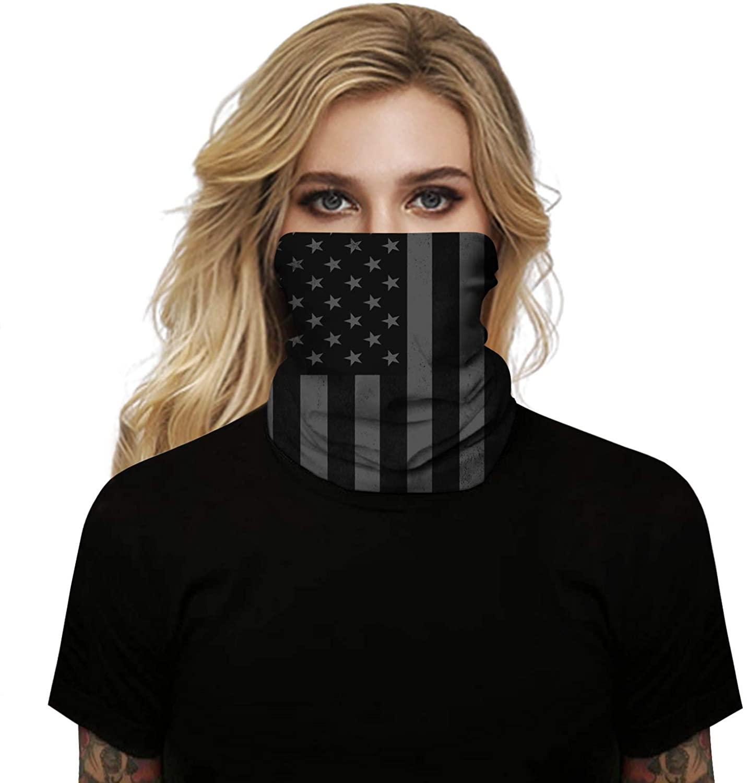 Agowish Print Bandana Face Masks Neck Gaiters Summer Scarf Balaclava Face Dust Cover UV Protection