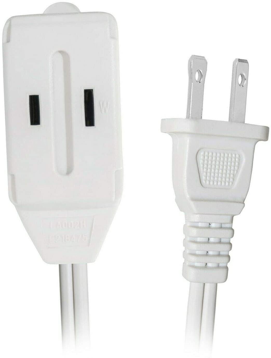 BoltLion BL-697539 9 Feet 3 Outlet Extension Cord (16 AWG, 2 Prong, 13A, 125V & 1,625W) w/Outlet Protection Cover - White, 2 Pack