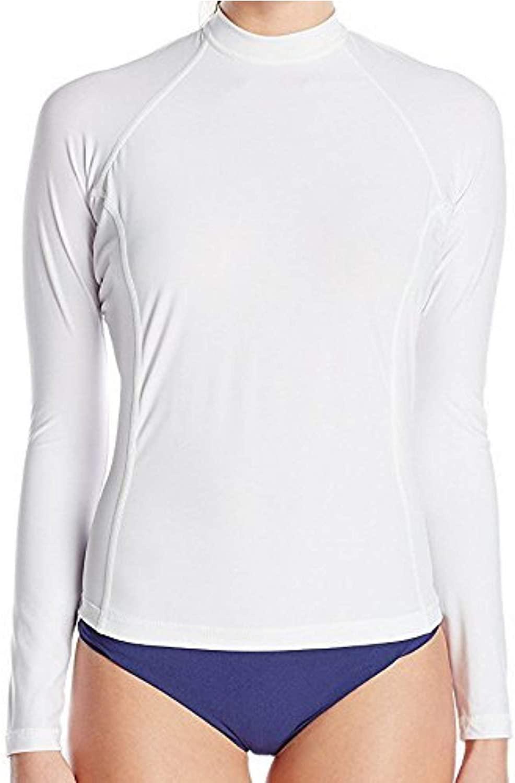 Swim Shirts for Women - Loose Fit Long Sleeve UV 50 + Sun Protection Swimwear