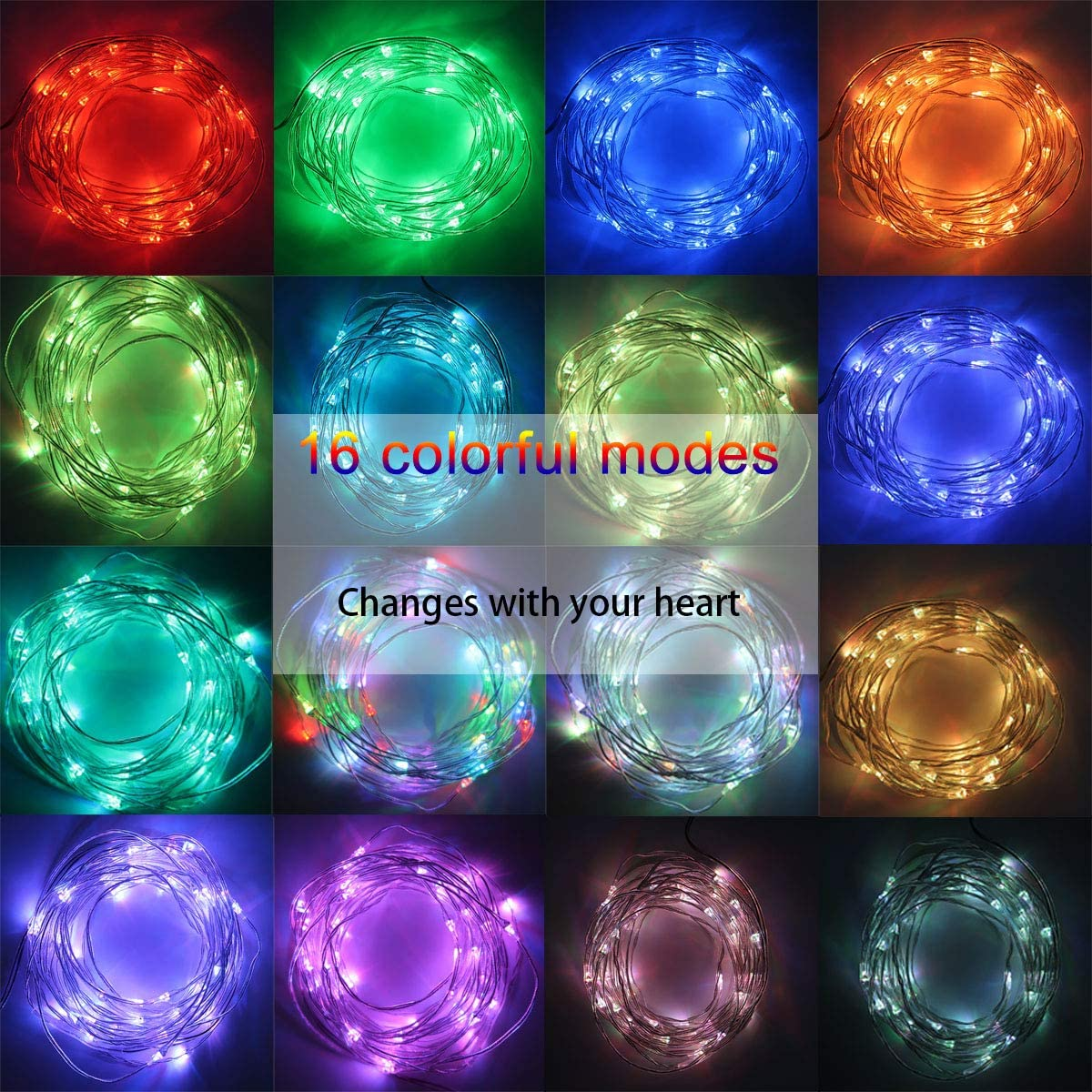 LED Rope Lights 16Colors 16.4Ft Vibrant Bright 50LEDs Strip Kit with Remote Control RGB Colors Changing 3XAA Battery Operated for Seasonal Decor Trailer Porch Rope Lights Waterproof Holiday Gathering