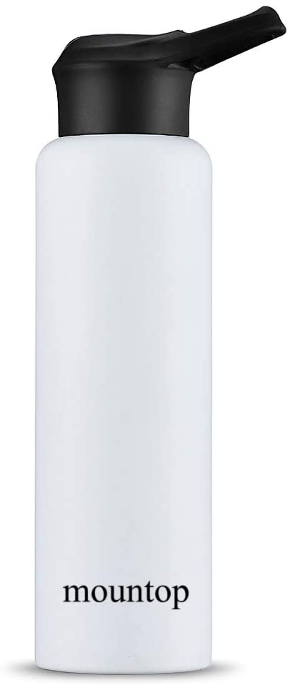 mountop Stainless Steel Sports Water Bottle - Standard Mouth, Keeps Liquids Hot or Cold with Double Wall Vacuum Insulated, Leak&Sweat Proof 25oz