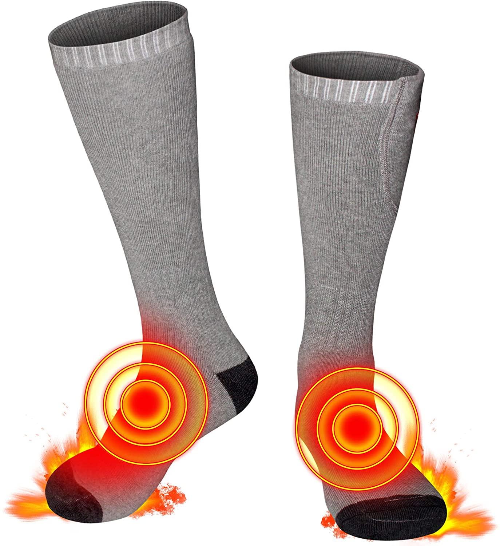 Men Women Heated Socks Heating Socks Rechargeable 3.7V Battery Socks Heat up 122 Fahrenheit M