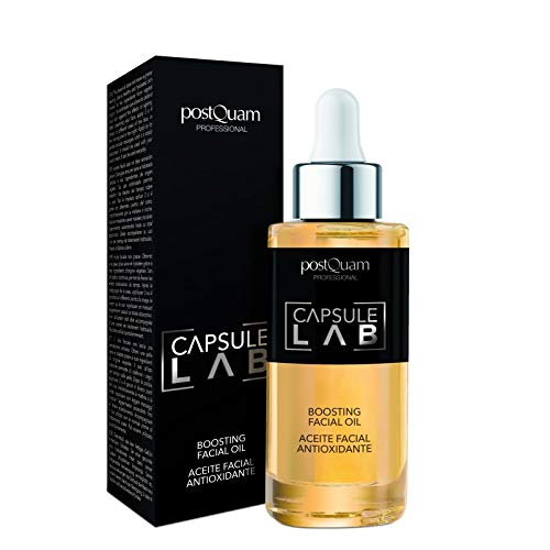 POSTQUAM Capsule Lab Boosting Facial Oil 30ml - Antioxidant Facial Oil - Skin Care – Daily Use - Protects The Skin - Smooth And Velvety – Cell Renewal - Natural Ingredients - Provides Softness And Smoothness To The Skin - Hyaluronic Acid - Vitamin C - Super Moisturizing Effect - For All Types Of Skin